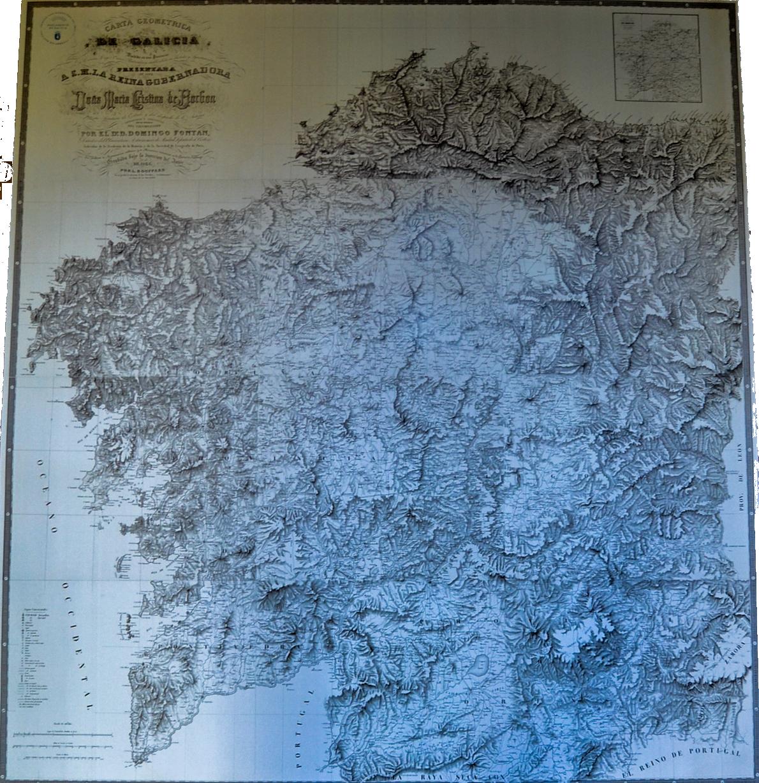 Reproducción da Carta Xeométrica de Domingo Fontán