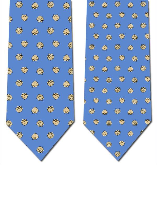 Gravata seda (azul claro)