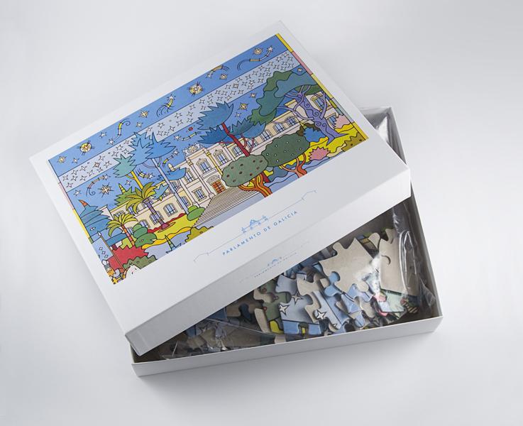"""Puzzle """"O Parlamento de Galicia"""" (100 pezas)"""