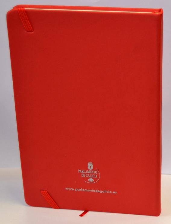 Caderno A5 vermello