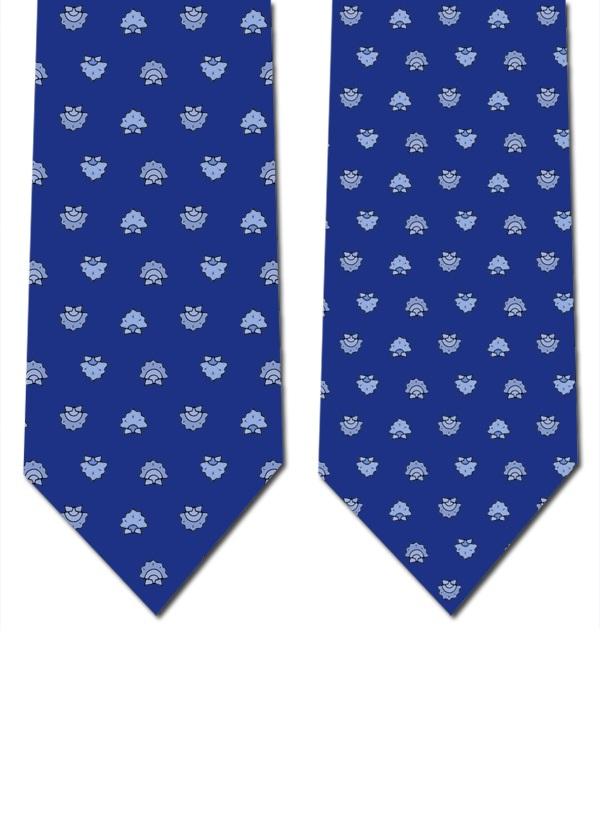 Gravata seda (azul escuro)